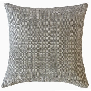 Fauve Solid Throw Pillow Gunmetal