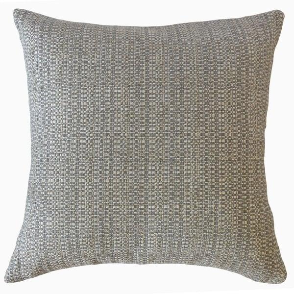 Fauve Solid Throw Pillow Gunmetal