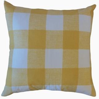 Jaspen Plaid Throw Pillow Yellow