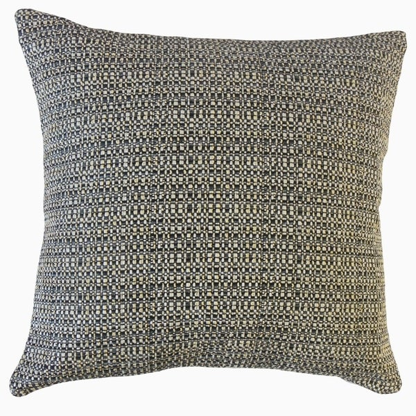 Fauve Solid Throw Pillow Pyrite