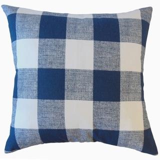 Jaspen Plaid Throw Pillow Italian Denim