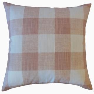 Jaspen Plaid Throw Pillow Blush Slub