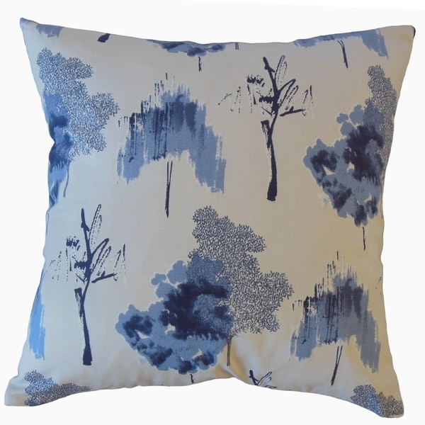 Kaira Ikat Throw Pillow Indigo