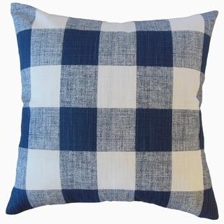 Jaspen Plaid Throw Pillow Denim