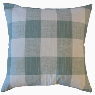Jaspen Plaid Throw Pillow Waterbury Slub