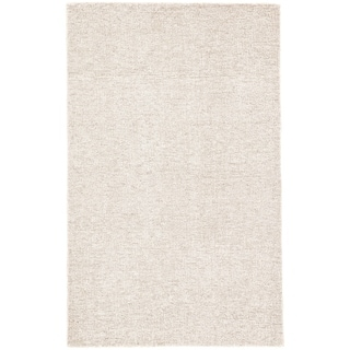 "Richmond Handmade Solid Ivory/ Gray Area Rug - 9'6"" x 13'6"""