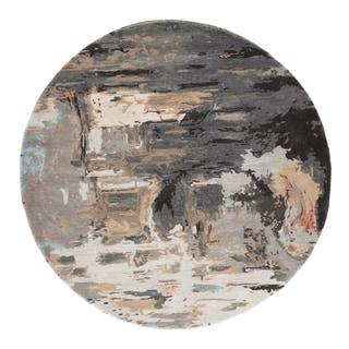 Morisot Handmade Abstract Gray/ Blush Area Rug