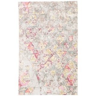 Roubaix Abstract Beige/ Pink Area Rug - 4' x 6'