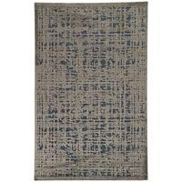 Echo Abstract Grey/ Blue Area Rug - 9'6 x 13'6
