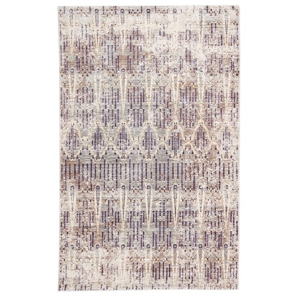 Celestia Trellis Brown/ Purple Area Rug - 4' x 6'