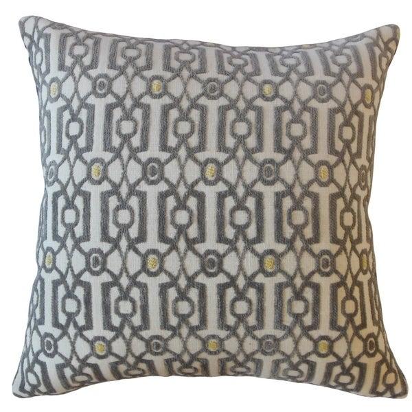 Saadet Geometric Throw Pillow Platinum