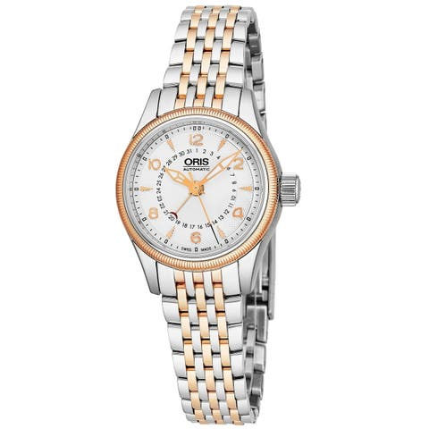 Oris Women's 01 594 7680 4361-07 8 14 32 'Big Crown' Silver Dial Two Tone Stainless Steel Date Swiss Automatic Watch