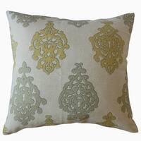 Palti Damask Throw Pillow Trumpet