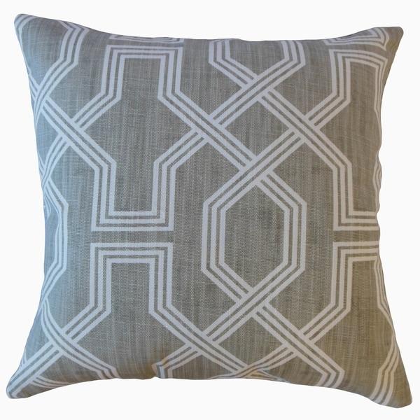 Samwell Geometric Throw Pillow Pewter