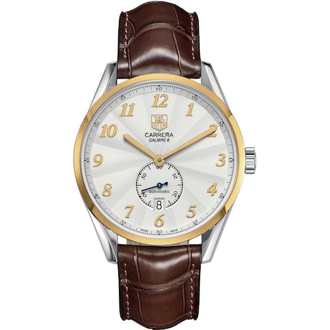 Tag Heuer Men's WAS2150.FC6181 'Carrera' Brown Leather Watch