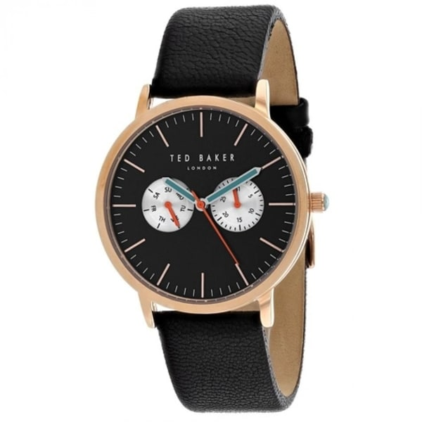 bb7d3f27f04f Shop Ted Baker Men s TE50291007  London  Black Leather Watch - Free  Shipping Today - Overstock - 27388215