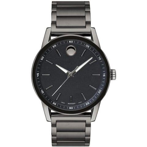 Movado Men's 0607226 'Museum Sport' Gunmetal Stainless Steel Watch