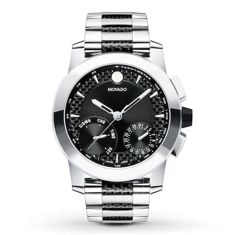 Movado Men's 0607030 'Vizio' Chronograph Two-Tone Stainless Steel and Carbon Fiber Accent Watch