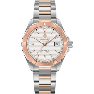 Link to Tag Heuer Men's WAY2150.BD0911 'Aquaracer' 18kt Rose Gold Automatic Two-Tone Stainless Steel and Gold Watch Similar Items in Men's Watches