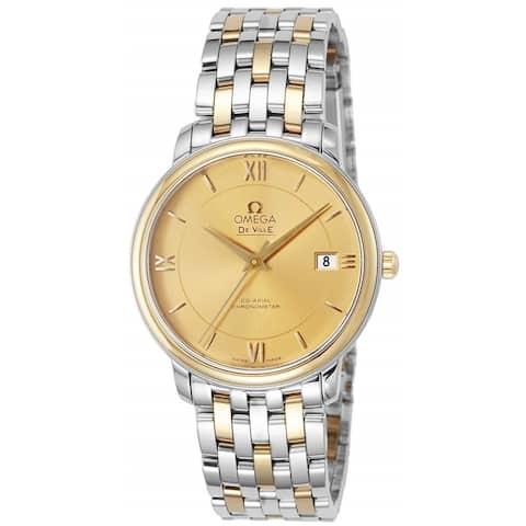 Omega Men's 424.20.37.20.08.001 'De Ville Prestige Co-Axial' Two-Tone Stainless Steel Watch