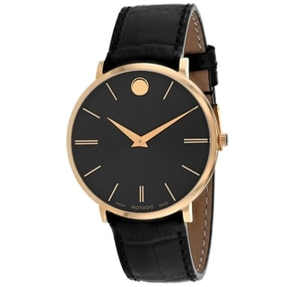 Link to Movado Men's 0607173 'Ultra Slim' Black Leather Watch Similar Items in Men's Watches