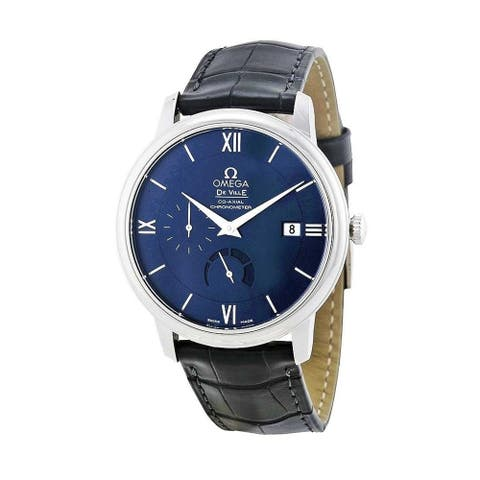 Omega Men's 424.13.40.21.03.001 'De Ville Prestige ' Black Leather Watch