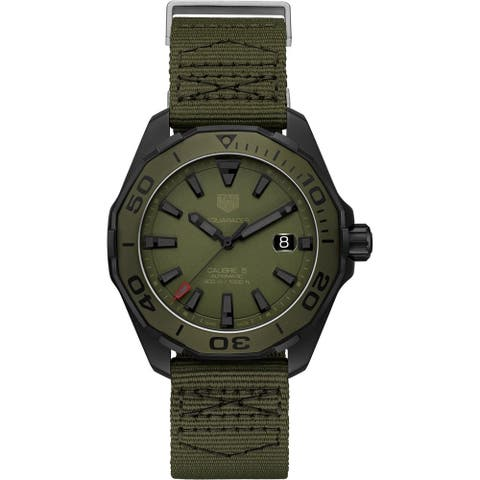 Tag Heuer Men's WAY208E.FC8222 'Aquaracer' Green Fabric Watch