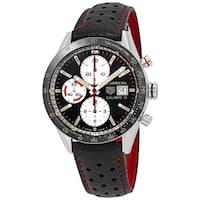 Tag Heuer Men's CV201AP.FC6429 'Carrera' Chronograph Black Leather Watch