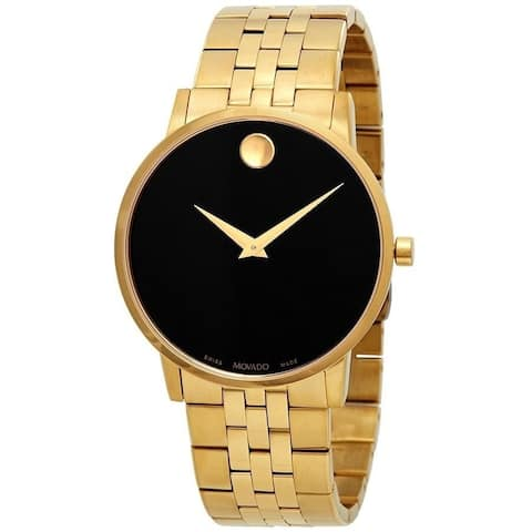 Movado Men's 0607203 'Museum Classic' Dot Gold-Tone Stainless Steel Watch
