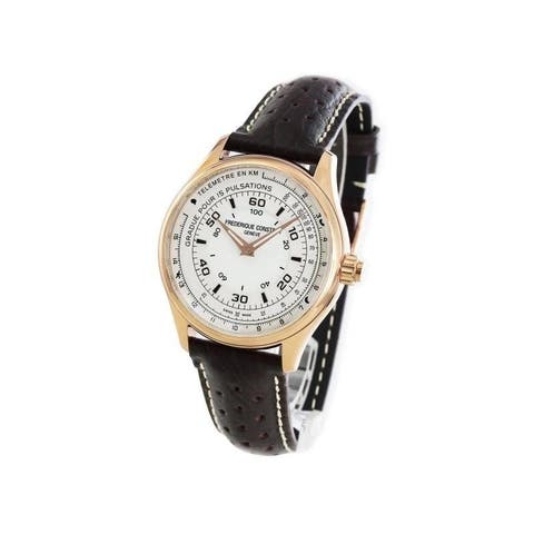 Frederique Constant Men's FC-282ASB5B4 'Horological SmartWatch' Brown Leather Watch