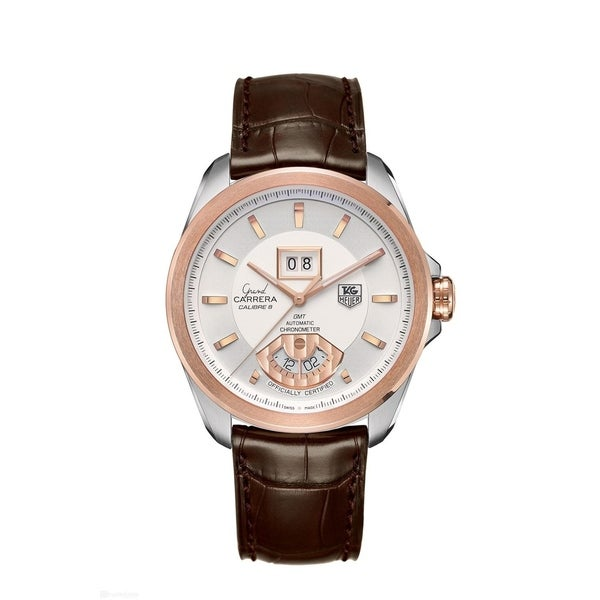 2836dba434b Shop Tag Heuer Men's WAV5152.FC6231 'Grand Carrera' 18kt Rose Gold Automatic  Brown Leather Watch - Free Shipping Today - Overstock - 27388287