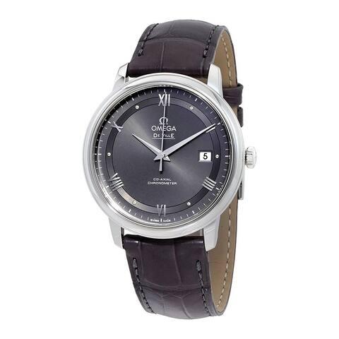 Omega Men's 424.13.40.20.06.001 'De Ville' Grey Leather Watch