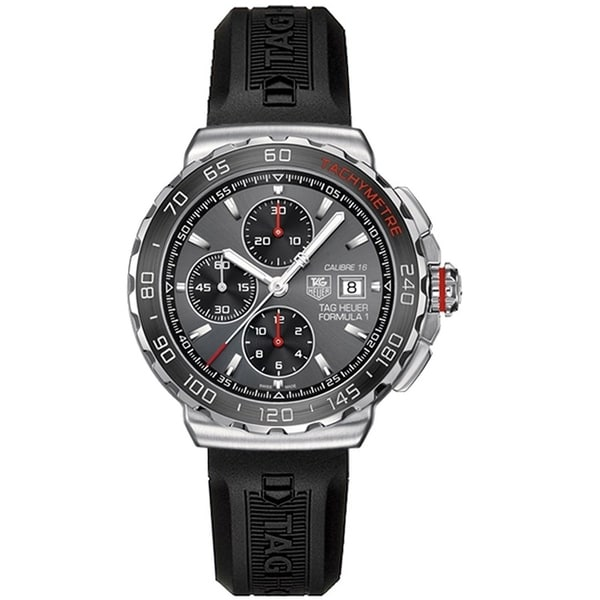 Tag Heuer Men's CAU2011.FT8012 'Formula 1 ' Chronograph Black Rubber Watch