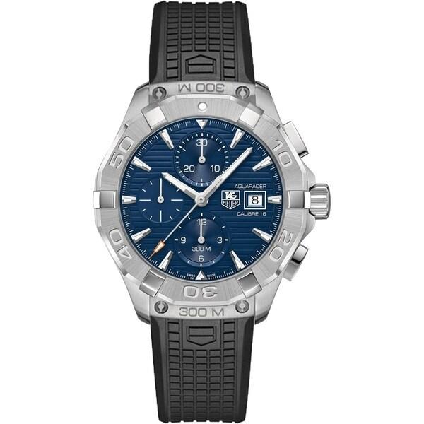 Tag Heuer Men's CAY211B.FT6041 'Aquaracer' Chronograph Black Rubber Watch