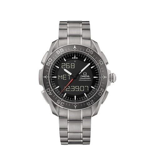 Omega Men's 318.90.45.79.01.001 'Speedmaster Skywalker' Chronograph Titanium Watch