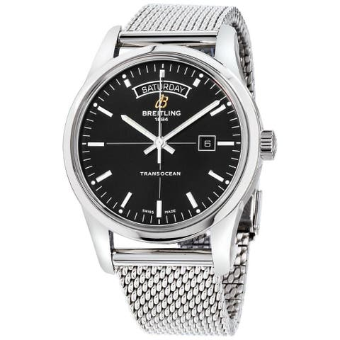 Breitling Men's A4531012-BB69-154A 'Transocean Day and Date' Stainless Steel Watch