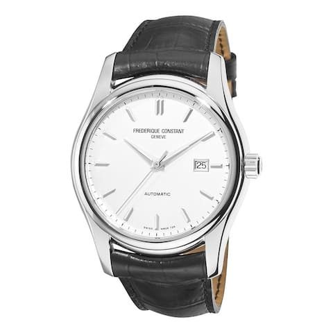 Frederique Constant Men's FC-303S6B6 'Classics' Black Leather Watch