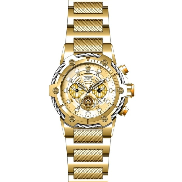 e76f9092e Shop Invicta Men's 27115 'Star Wars' C-3PO Gold-Tone Stainless Steel Watch  - Free Shipping Today - Overstock - 27388358