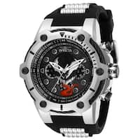 Invicta Men's 29056 Venom Black and Silver Inserts Silicone Watch
