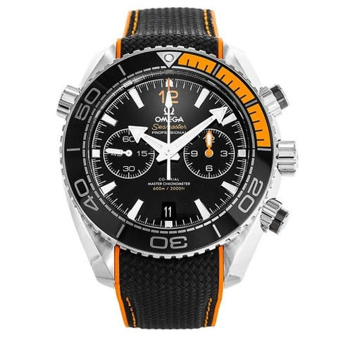 Omega Men's 215.32.46.51.01.001 'Seamaster Planet Ocean' Chronograph Two-Tone Rubber Watch
