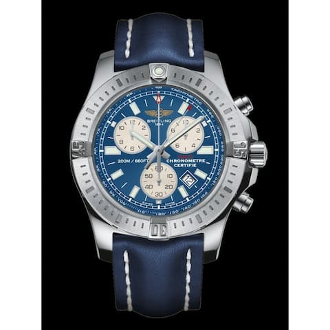 Breitling Men's A7338811-C905-158S 'Colt Chronograph' Chronograph Blue Rubber Watch