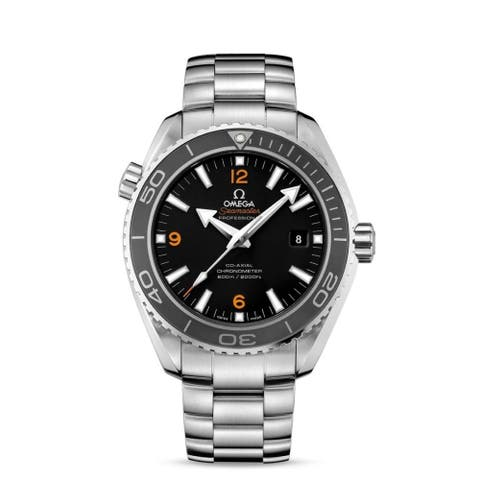 Omega Men's 232.30.42.21.01.003 'Seamaster Planet Ocean' Stainless Steel Watch