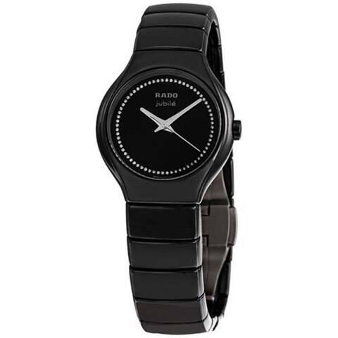 Rado Women's R27655732 'True ' Diamond Black Ceramic Watch