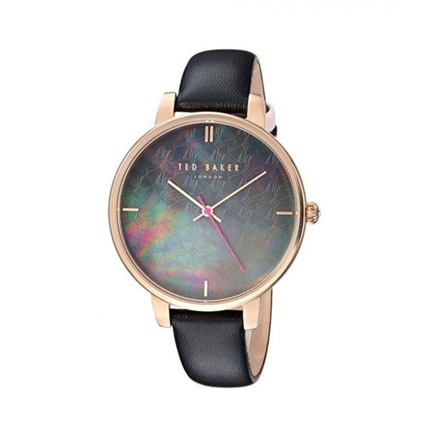 a1019c0a498a Shop Ted Baker Women s TEC0025001  Kate  Black Leather Watch - Free  Shipping Today - Overstock - 27388461