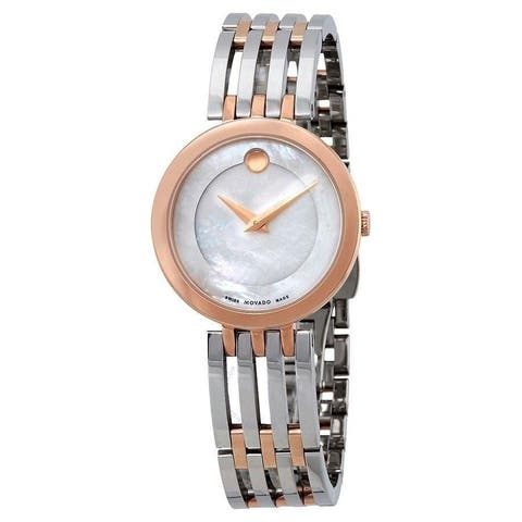 Movado Women's 0607114 'Esperanza' Dot Two-Tone Rose Gold-tone Stainless Steel Watch