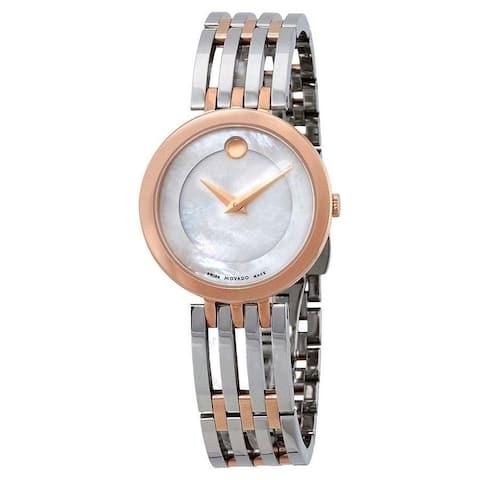 Movado Women's 0607114 'Esperanza' Dot Two-Tone Rose Gold-tone Stainless Steel Watch