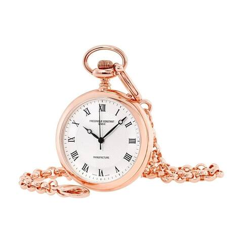 Frederique Constant Unisex FC-700MC6PW4 'Manufacture' Rose Gold-Tone Stainless Steel Band Watch