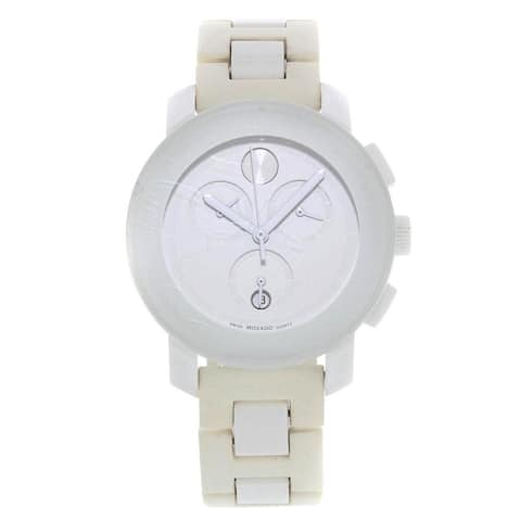 Movado Women's 3600057 'Bold' Chronograph White Resin Watch