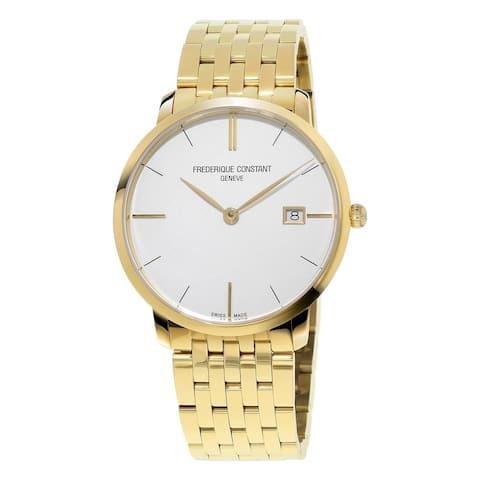 Frederique Constant Women's FC-220V5S5B 'Slimline' Gold-Tone Stainless Steel Watch