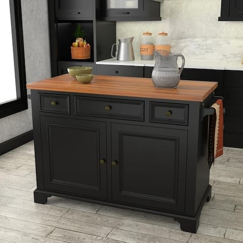 222 Fifth Hamilton Black Kitchen Island